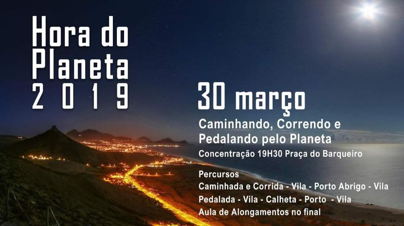 Earth Hour event in Porto Santo