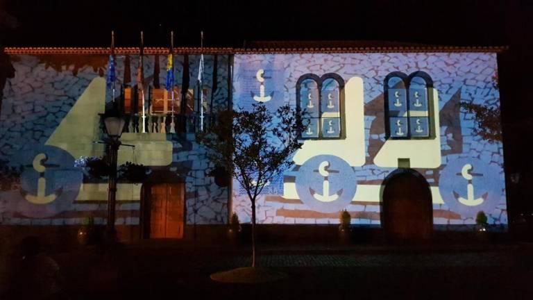Video mapping in Santa Cruz to celebrate São João