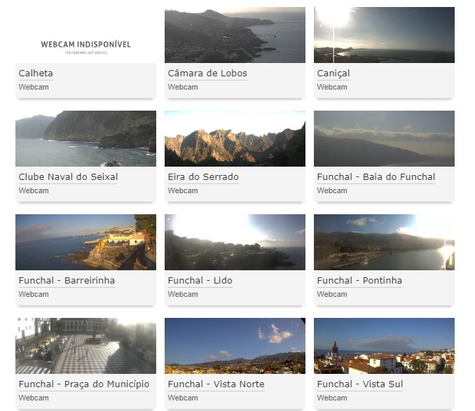 List of webcams in Madeira operated by NetMadeira