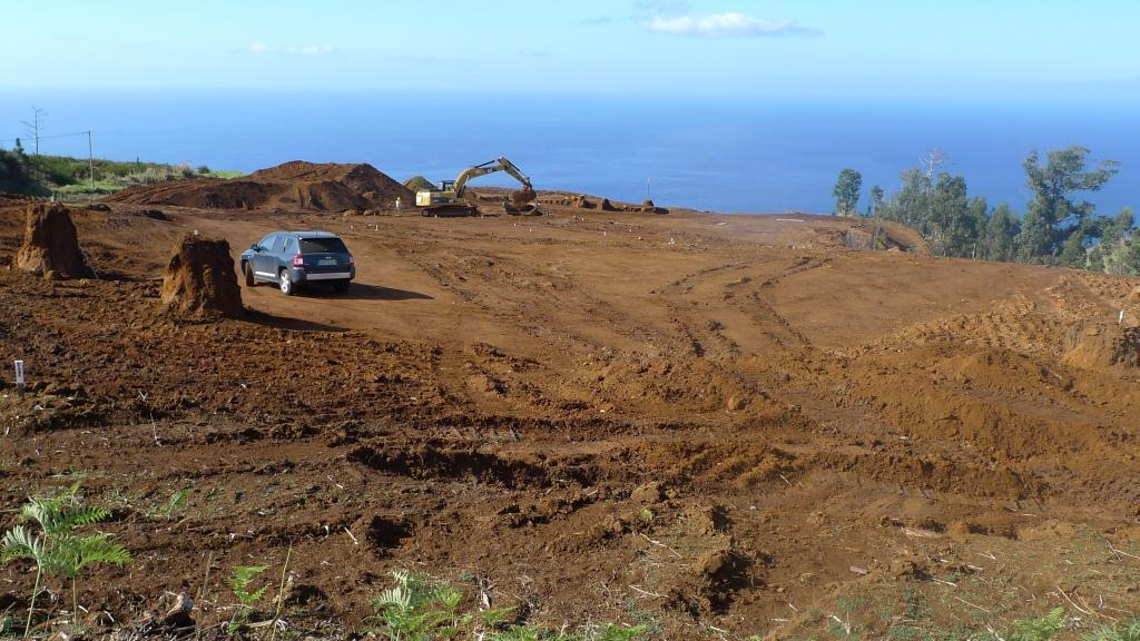 Major earthworks taking place at ponta do pargo golf course in 2012