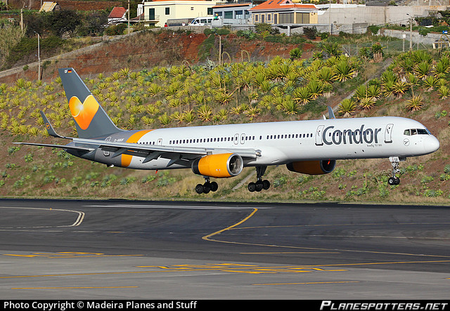 Condor, which has been rescued by the German government, lanmding at Madeira airport