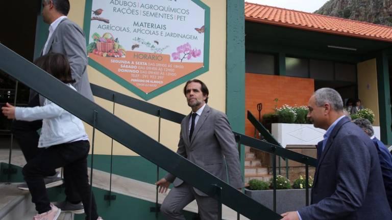President Albuquerque visiting Ribeira Brava yesterday