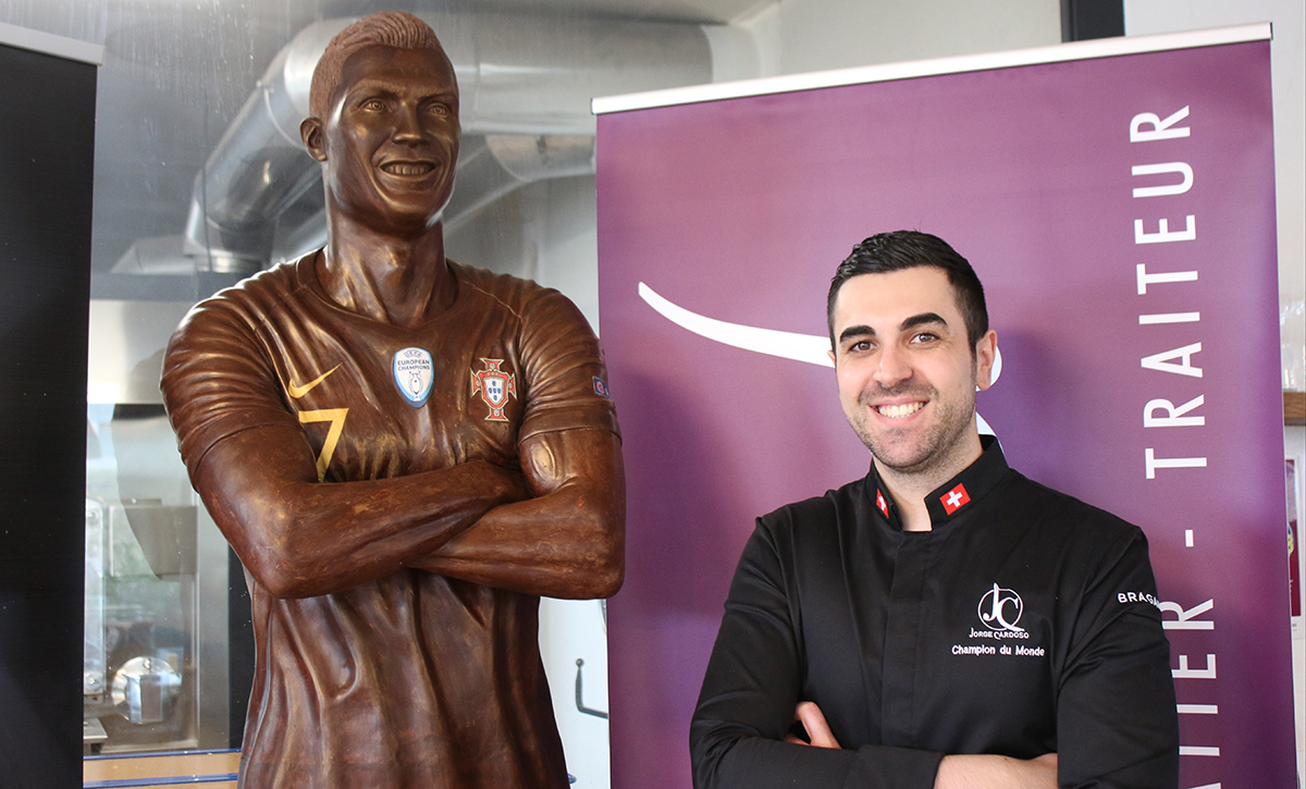 Chocolate Ronaldo and its creator