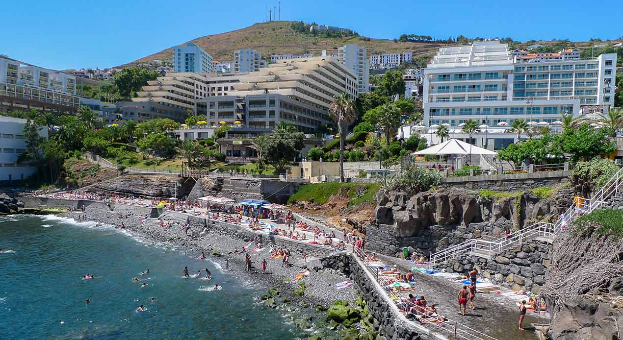 Hotel zone in Funchal, where procedures have been agreed in the event of coronavirus