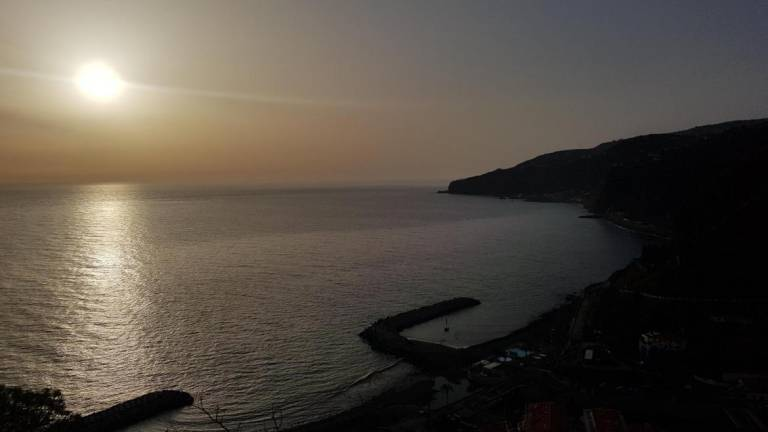 South coast of Madeira, where cooler temperatures are expected