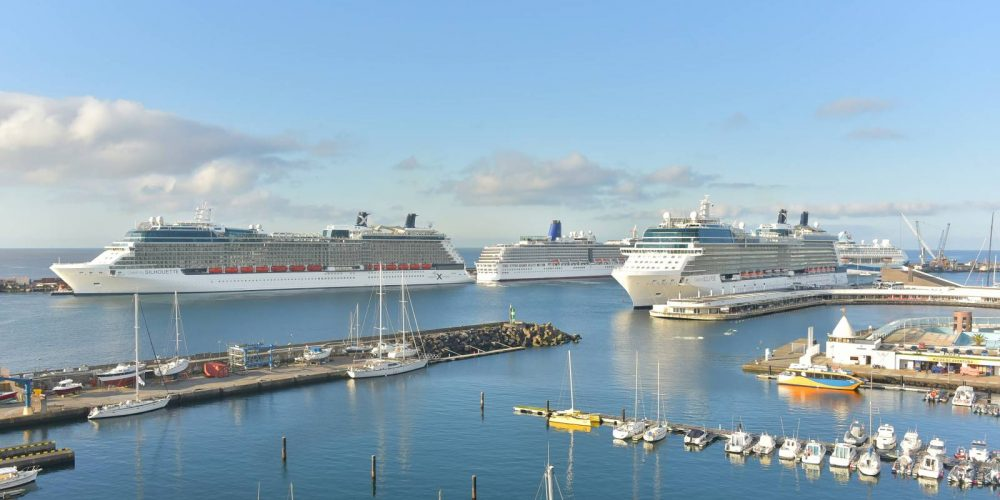 Cruise ships visit the Azores