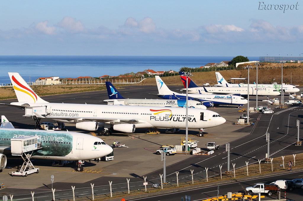 Ponta Delgado airport in the Azores
